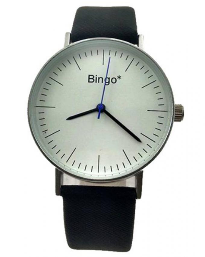 Leather Straps Watch - Black