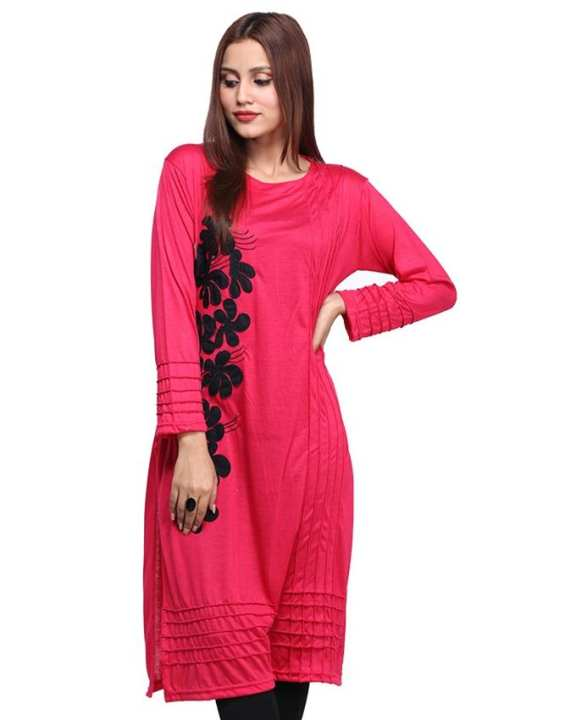 Embroidery Flower Printed Kurti For Women
