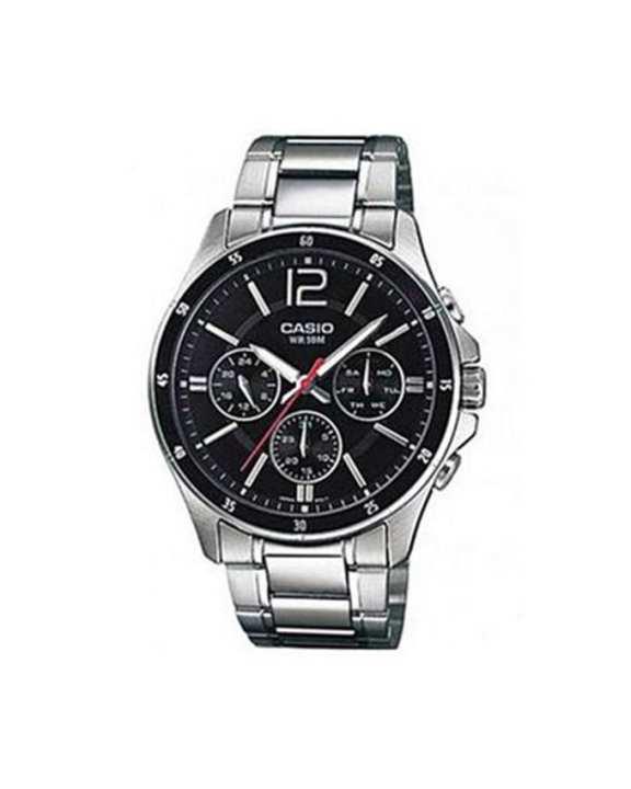 Silver Steel Analog Watch for Men - MTP-1374D-1AV
