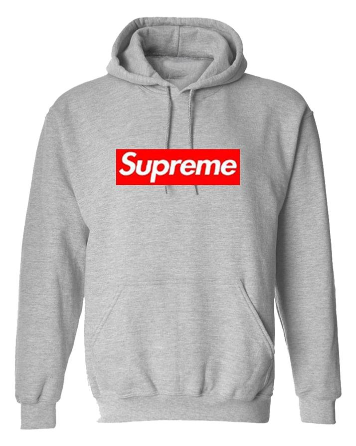 7dcb9ed973ac Grey Supreme Box Logo Hoodie For Unisex  Buy Online at Best Prices ...