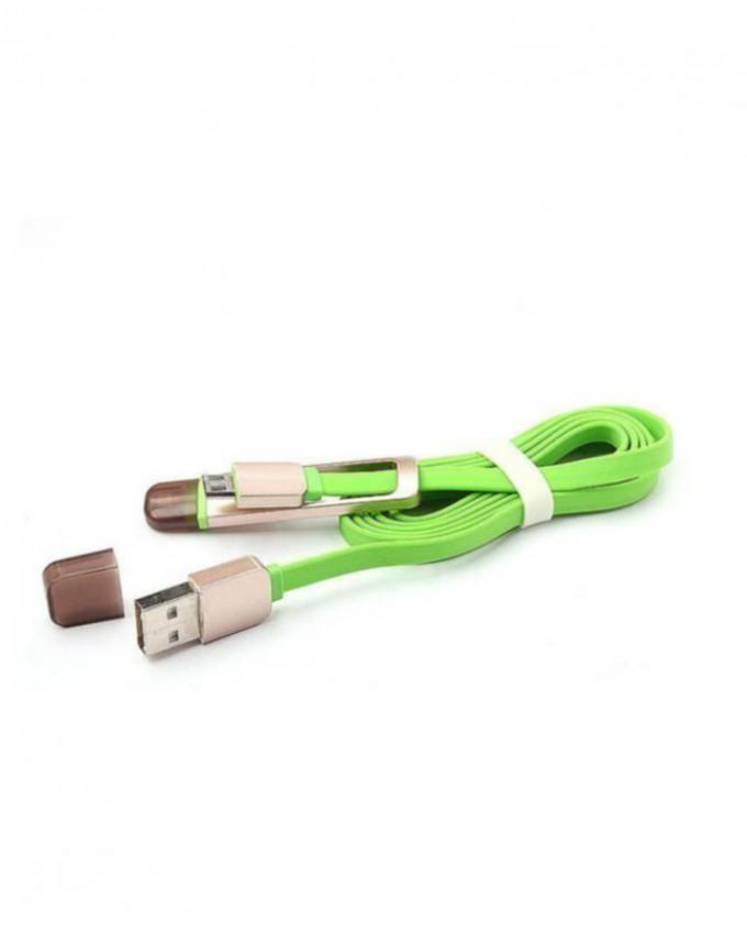 Best 2 in 1 iphone / Smarts Phones USB Data and Charging Cable - Green