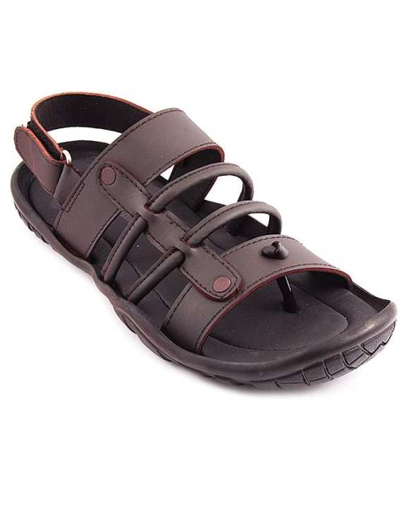 Maroon Synthetic Leather Casual Sandal for Men - 797/17