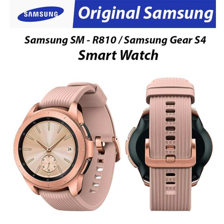 Original Samsung Galaxy Watch 42Mm Sm-R810/ Gear S4 Smart Watch