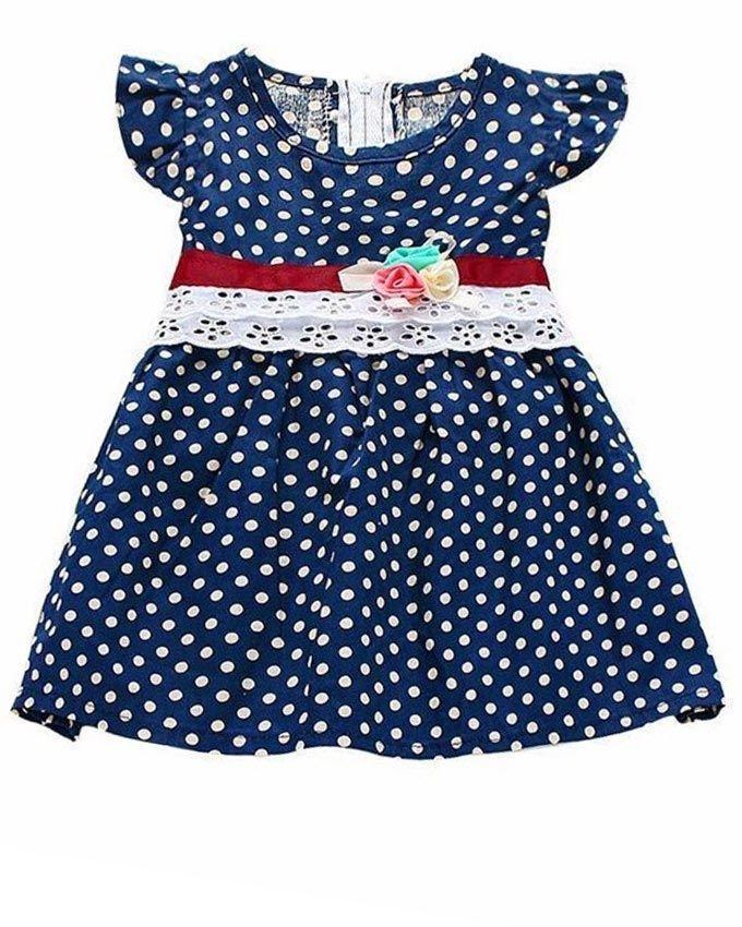41d93a1b37c Blue Cotton Dress For Girls