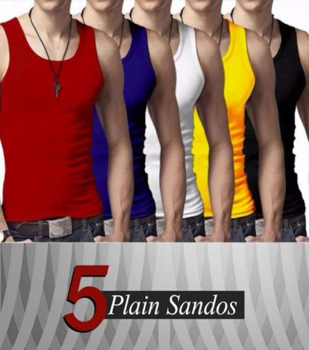 Pack Of 5 Plain Tank Top Sandos