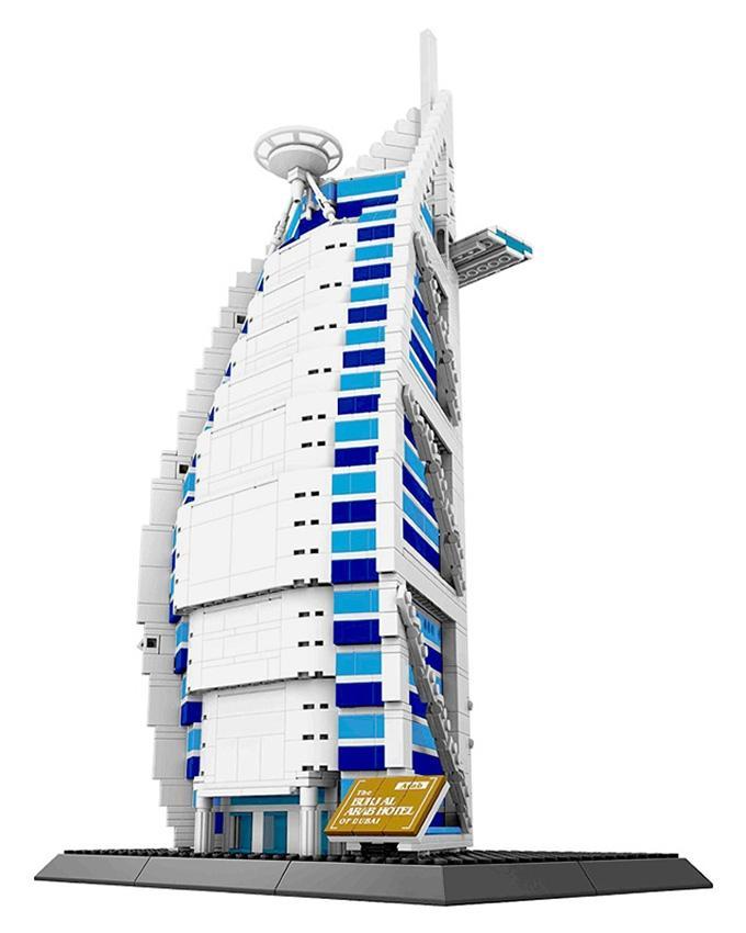 Burj ul Arab Design Building Blocks For Kids - Multicolour