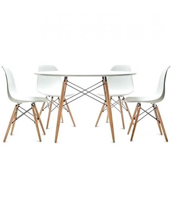 Dining Table and chairs set for Kitchen/ Office - White