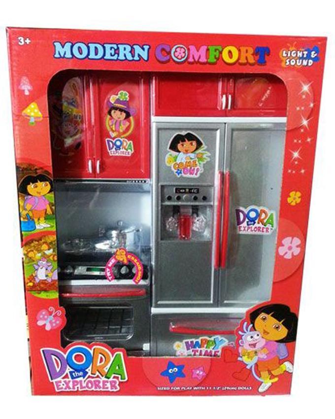 Birthday Special Gift Offer Dora Girls Kitchen Set Toy - Multicolor
