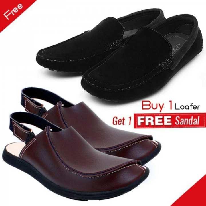 Buy 1 Leather Sandal get 1 Loafer free