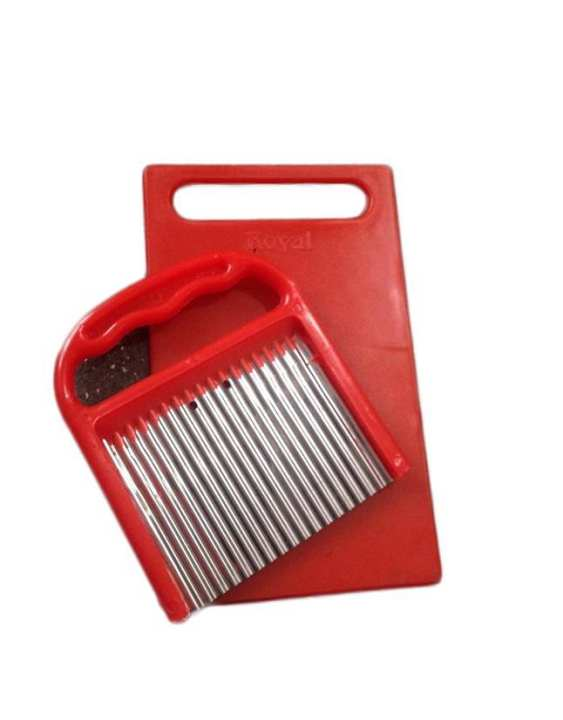 Finger Chips Cutter with Cutting Board - Red