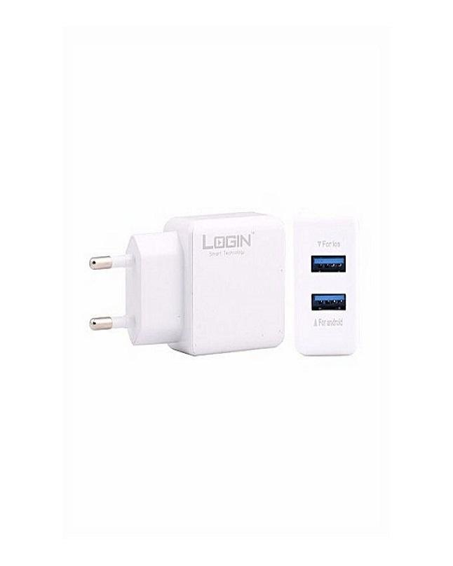 Lt101 2 5A Fast Charger 2 Usb Scope - White (Genuine Warranty)