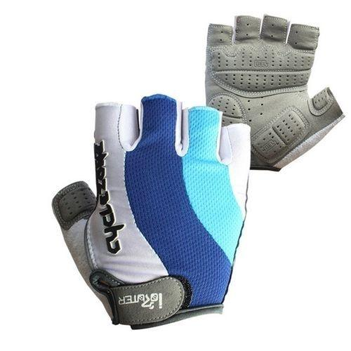 Anti-Slip Half Finger Mesh Breathable Mountain Bicycle Gloves