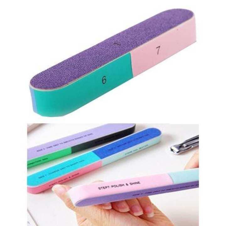 7 Ways Nail Buffer - Multicolor.
