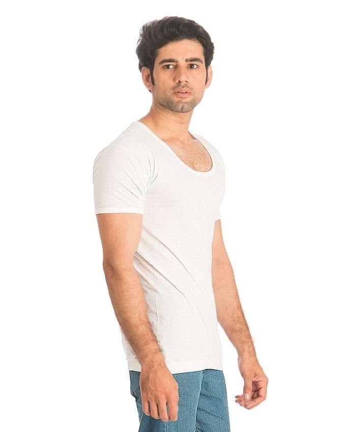 Pack of 3 - White Cotton Vest For Men