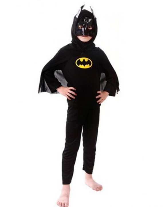 Batman  Costume for Kids Age 5-6 Years Black  Polyester