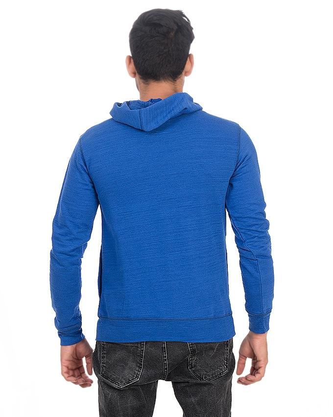 Royal Blue Cotton GOT John Snow Hoodie for Men