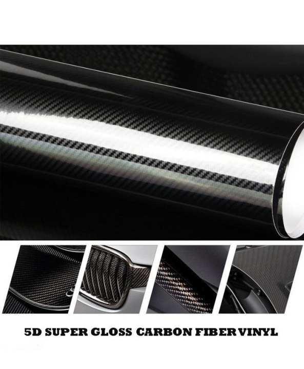 Premium Ultra Gloss 5D Carbon Fiber Vinyl Wrap