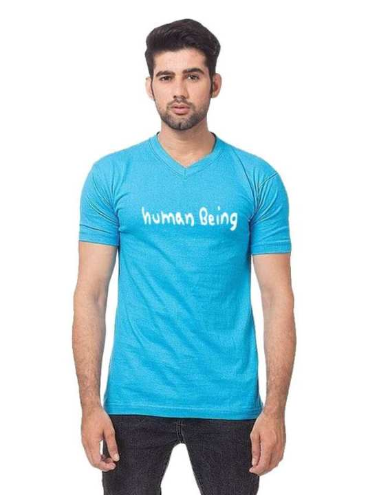 Turquoise Human Being Printed T Shirt