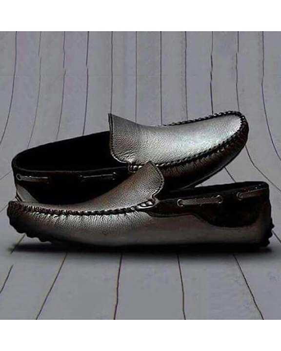 Black Rexine Loafer For Men