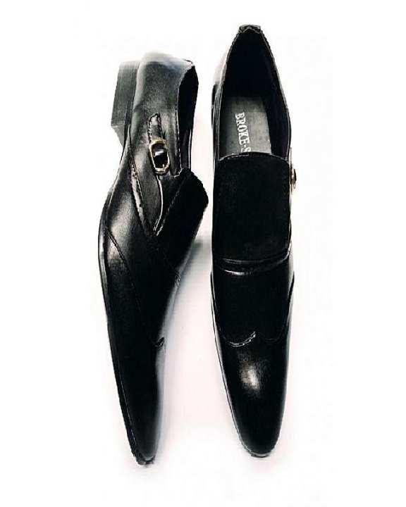 Black Pu Leather Formal Shoes For Men