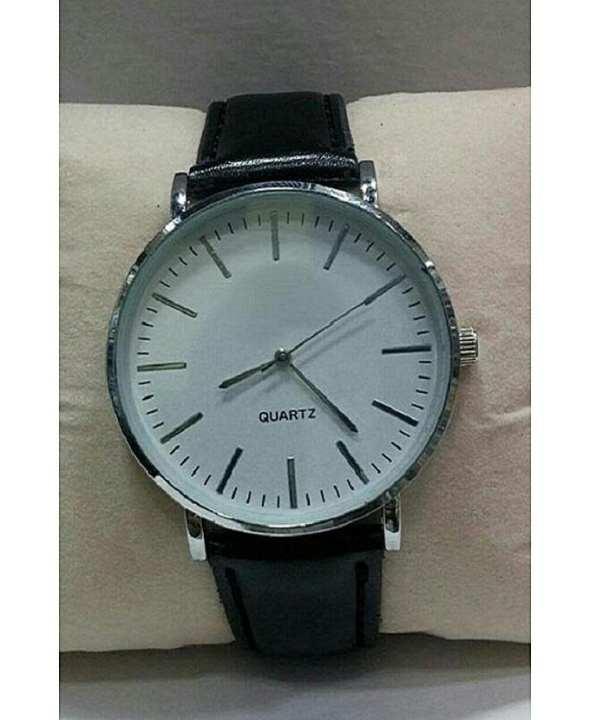 D Marts Black Leather Analog Watch For Men