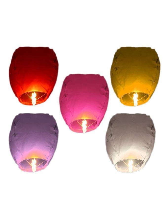 Pack Of 5 - Sky Lanterns - Multicolor