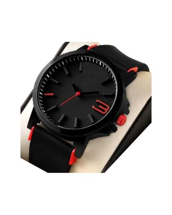 Black - Strap Analog Watch For Men