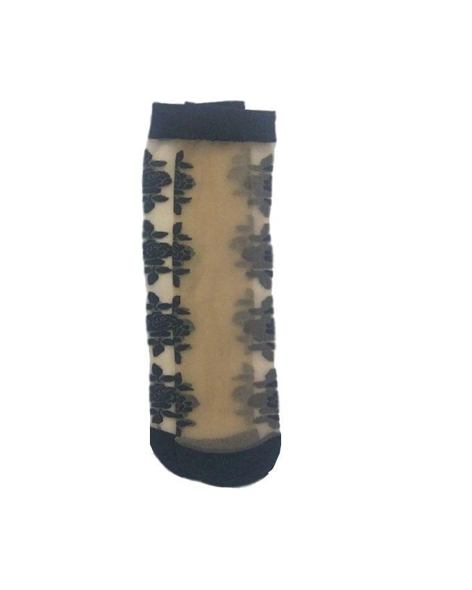 Pack of 2 - Beige & Black Polyester Socks For Women