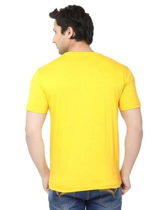 Pack of 2 - Yellow Cotton Half Sleeve Wife & Hubby Printed T-Shirts For Couple