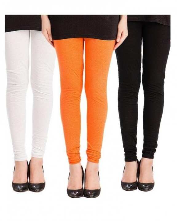 Pack of 3 - Multi Color Churidaar Tights for Women - RCPA-3Pant-TightBlWO