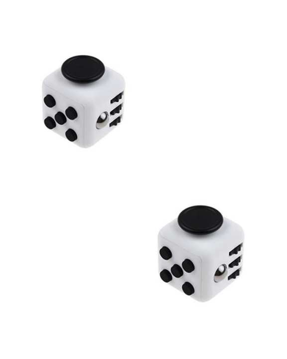 Pack of 2 - Fidget Cubes - White