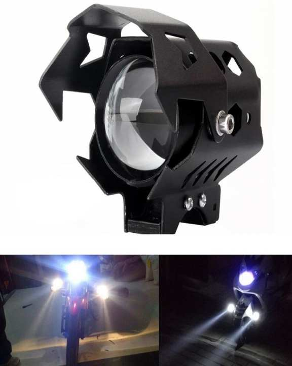 U9 Motorcycle Bike LED Spot Fog Light Lamp Spotlight High Low Beam