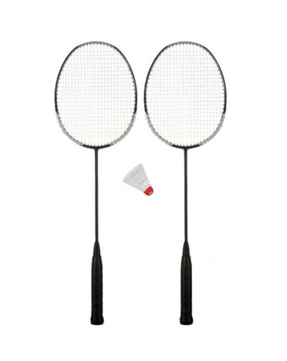 Pair of Badminton Rackets & Shuttle