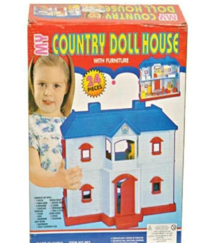 Doll House Toy Barbie For Baby Girls 24 Pc
