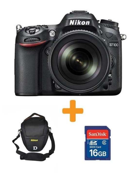D7100 DSLR Camera with 18-140mm Lens + 16GB Card & Bag - Black