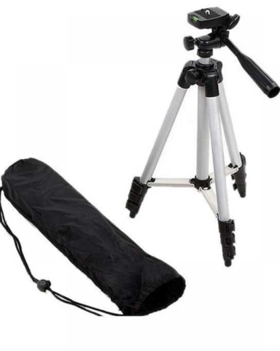 Universal Tripod Camera Stand 3110 for Canon Nikon Sony & Phones - Black & Silver