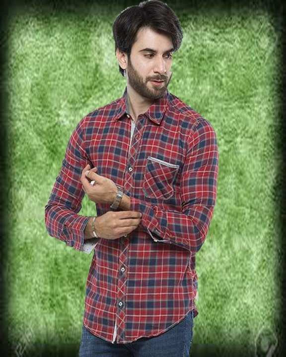 Mens, Causal Shirt in Cotton Fabric