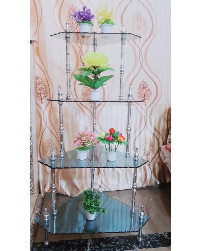 4 Layer Glass Shelf Rack