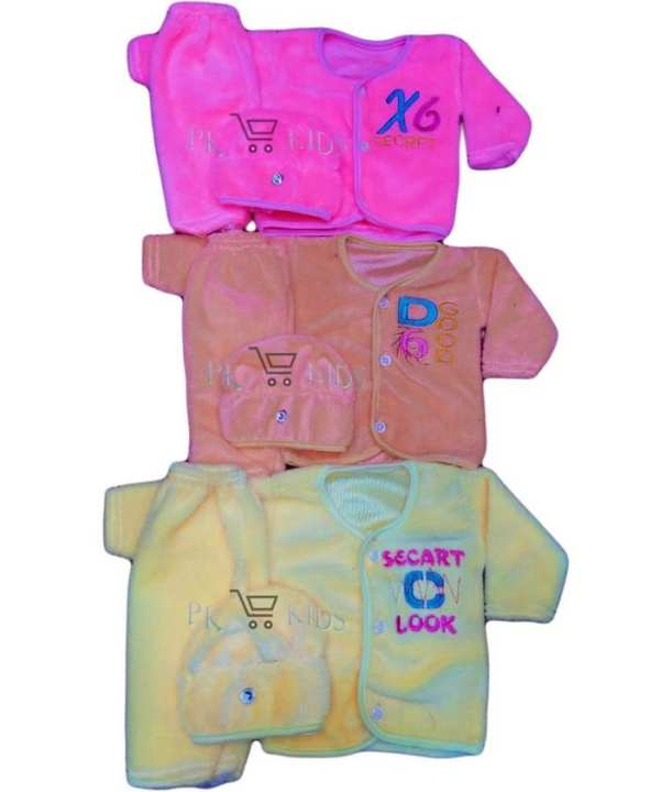 Pack Of 3 - New Born Baby Winter Dress