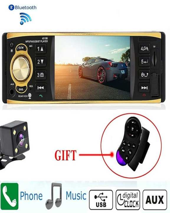 Car Tape Radio MP3, Rareview Camera, USB, AUX FM Radio, Bluetooth, Remote Control