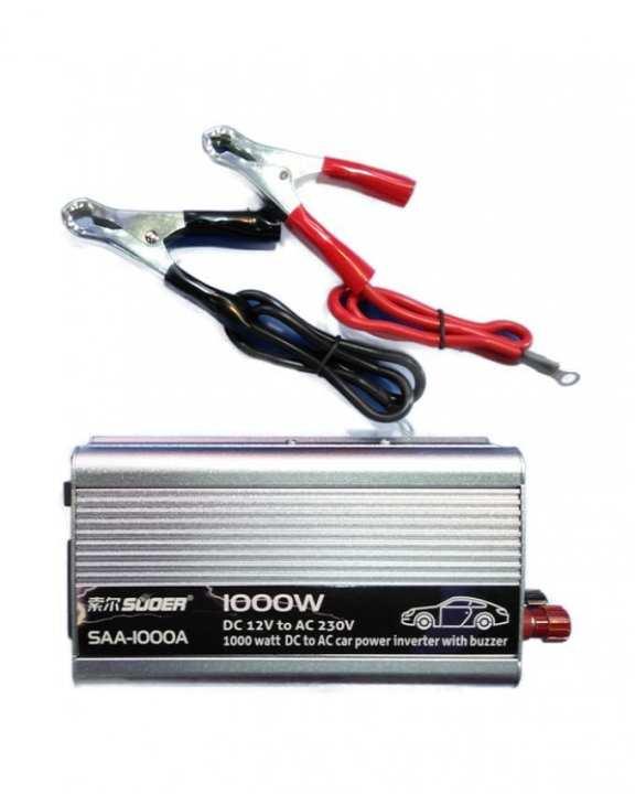 1000watt Power Inverter - Dc To Ac - 12v Dc To 220v Ac - Silver