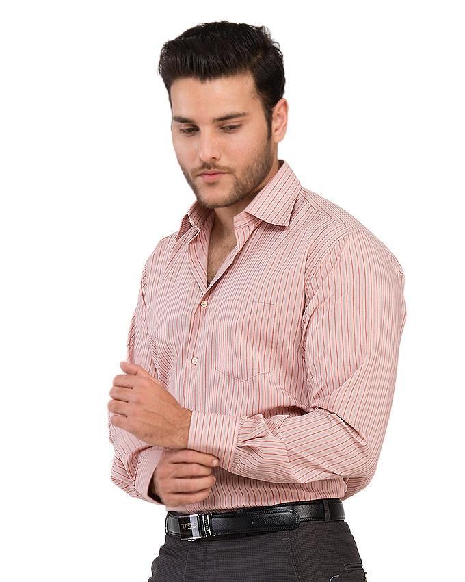 Red & White - Cotton - Dress Shirt