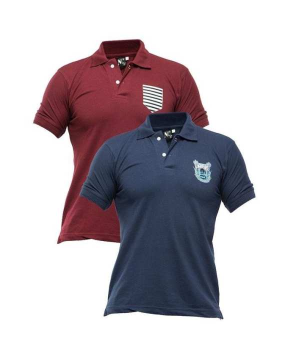 Pack Of 2 Polo With Front Logo T-Shirt For Men