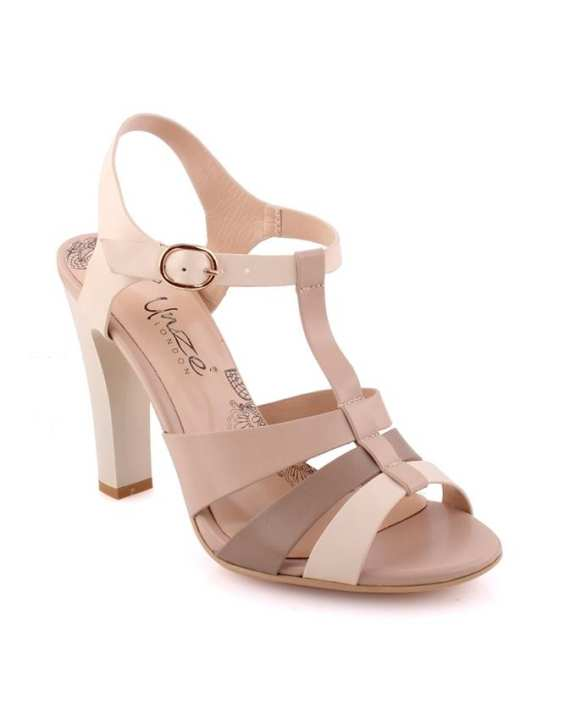White 'Luminate' Two Toned Heel Sandals L29577