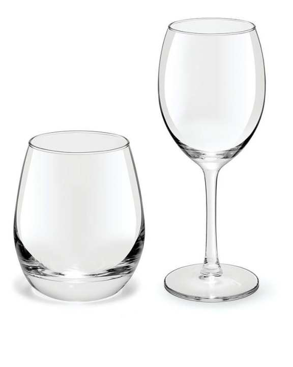 Wine Glass & Water Tumbler Set - Transparent
