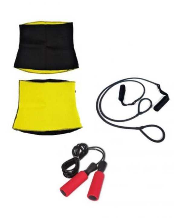 Pack of 3- Hot Shaper Belt,Body Shaper Band,Crossfit Jump Rope