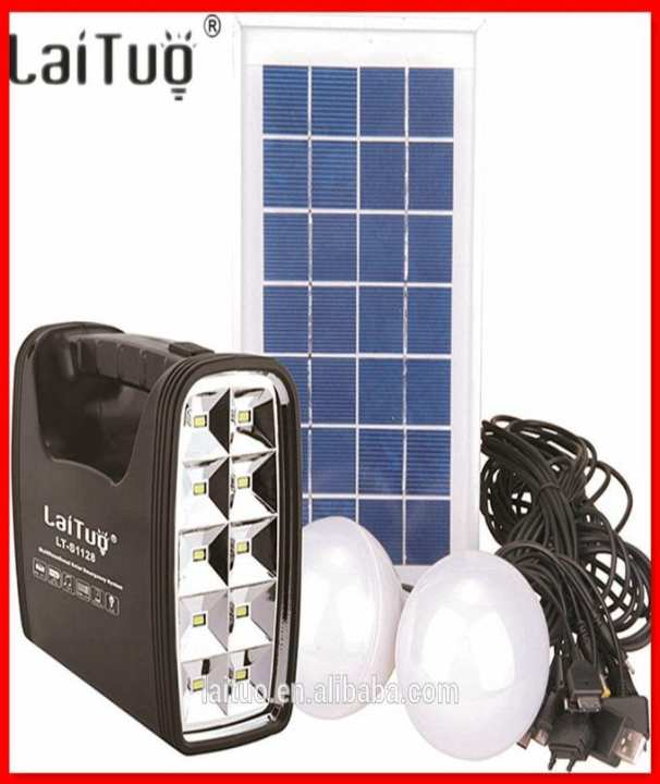 Solar Lighting ,Charging System With Panel, Battery & 2 Led Lamps 90 Lumens LTS1127