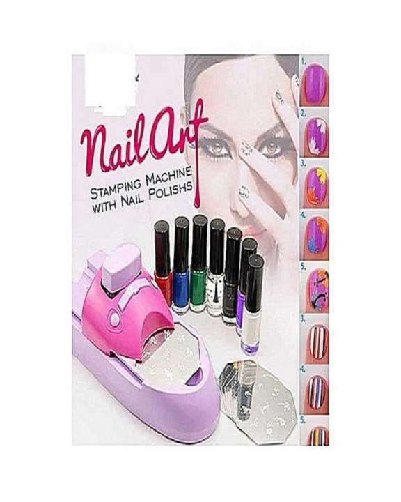7 Colors Diy Nail Art Stamping Machine