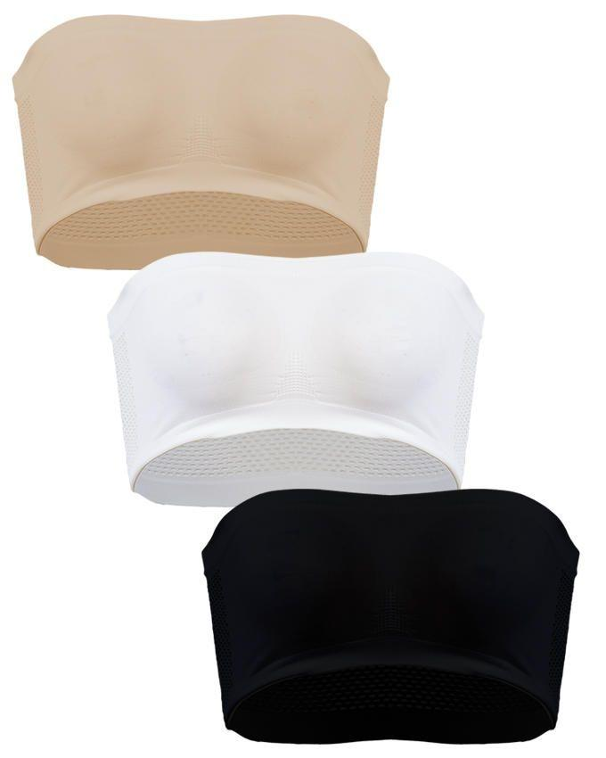 Pack of 3 Strapless Boob-Tubes