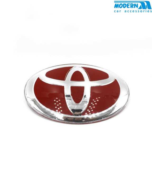Toyota Red With Silver Logo